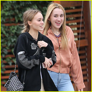 Lily-Rose Depp Grabs Lunch with Harley Quinn Smith & Ash Stymest