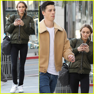 Lily-Rose Depp & Boyfriend Ash Stymest Couple Up In Beverly Hills