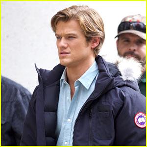 Lucas Till Spends an Early Morning Filming 'MacGyver' in Atlanta