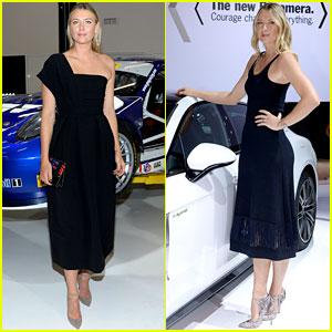 Maria Sharapova Goes Glam for Porsche Events!
