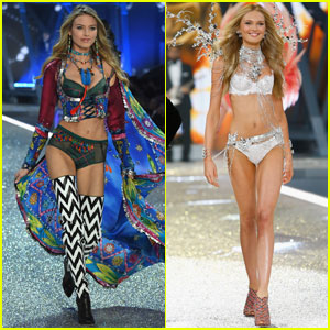 Martha Hunt & Romee Strijd Look Angelic on Victoria's Secret Fashion Show 2016 Catwalk