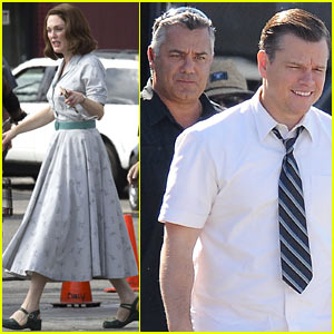 Matt Damon, George Clooney & Julianne Moore Continue 'Suburbicon' Filming in LA