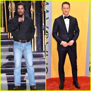 Matthew McConaughey & Josh Dallas Look Handsome At CMA Awards 2016!