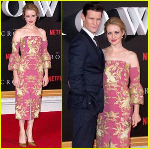 Matt Smith & Claire Foy Premiere 'The Crown' in London!