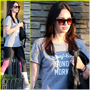 Megan Fox Stays Comfy in Workout Gear at the Movies