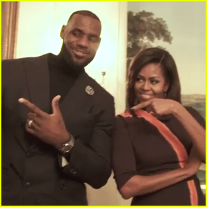 VIDEO: Michelle Obama Joins LeBron James for the Mannequin Challenge!