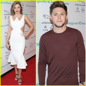 Miranda Kerr & Niall Horan Help Unveil Jaguar's New Car!