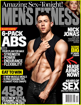 Nick Jonas Puts His Ripped Six-Pack Abs on Display for 'Men's Fitness'