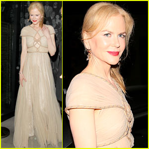 Nicole Kidman is a Timeless Beauty Leaving Dinner
