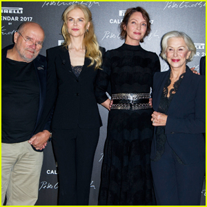 Nicole Kidman, Uma Thurman & Helen Mirren Join Peter Lindbergh At Pirelli Calendar Launch!