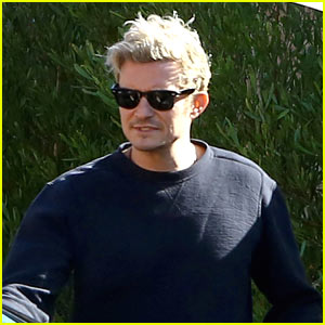 Orlando Bloom Puts His Blond Hair on Full Display at Lunch