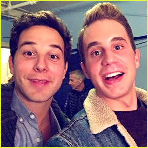 Pitch Perfect's Skylar Astin & Ben Platt Reunite on Broadway!