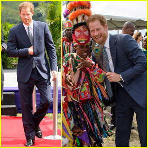 Prince Harry Releases Baby Turtles into the Ocean on Caribbean Tour!