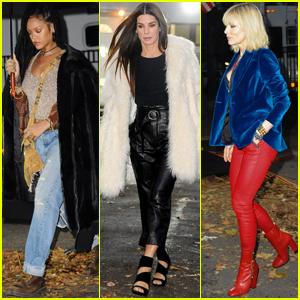 Rihanna, Sandra Bullock & Cate Blanchett Get into Character on 'Ocean's Eight' Set