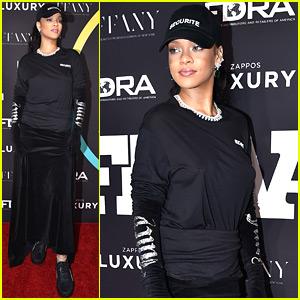 Rihanna Wears Puma Sneakers to Footwear News Awards!