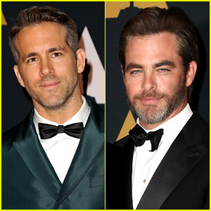 Ryan Reynolds & Chris Pine Look So Hot at Governors Awards!