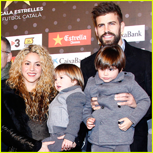 Shakira Gerard Pique Step Out With Sons After Sasha S Health Scare Gerard Pique Milan Pique Mebarak Sasha Pique Mebarak Shakira Just Jared