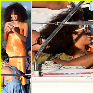 Solange Knowles Spends Thanksgiving Break on a Sailboat in Miami!