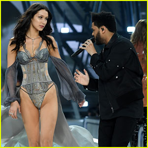The Weeknd Sings to Bella Hadid on Victoria's Secret Fashion Show 2016 Runway