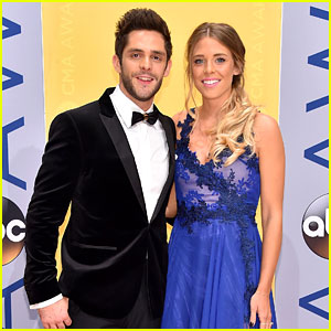 Thomas Rhett & Wife Lauren Gregory Attend CMA Awards 2016