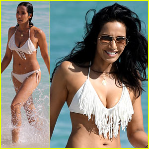 'Top Chef' Host Padma Lakshmi Shows Off Her Bikini Bod on Miami Beach!