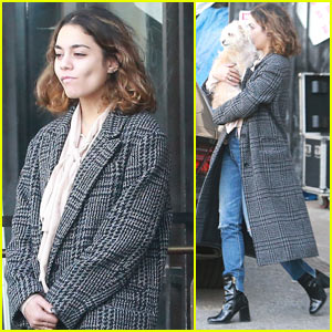 Vanessa Hudgens Runs Errands in Hollywood with Her Adorable Pup!