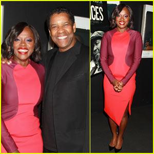 Viola Davis & Denzel Washington Attend Screening of Their New Film 'Fences' in NYC