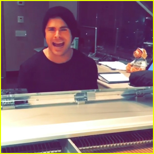 Zac Efron Serenades Adam Devine For His Birthday - Watch Now!