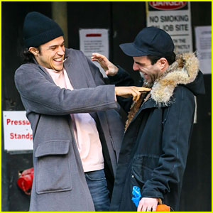 Zachary Quinto & Miles McMillan Share Cute Moment in NYC