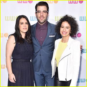 Zachary Quinto Teams Up With 'Broad City' Stars Abbi Jacobson & Ilana Glazer At Worldwide Orphans Gala!