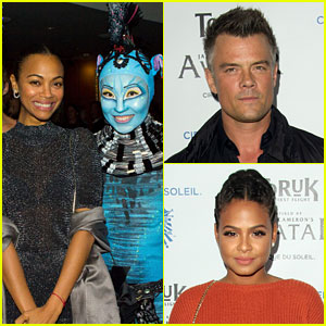 Zoe Saldana Gets in 'Avatar' Spirit at Cirque du Soleil's Toruk Premiere!