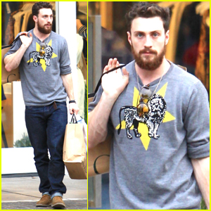 Aaron Taylor-Johnson Gets In Some Holiday Shopping