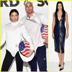 Adriana Lima Gets Fencing Lesson From Olympian Miles Chamley-Watson!