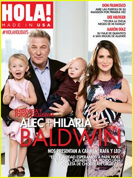 Alec & Hilaria Baldwin Put Their Kids On Display On HOLA! USA