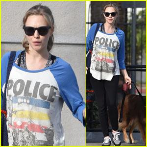 Amanda Seyfried Takes Her Baby Bump & Dog Finn for a Walk