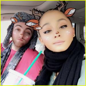 Ariana Grande Celebrates Hanukkah With Boyfriend Mac Miller