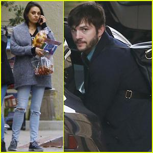 Ashton Kutcher & Mila Kunis Spend New Year's Eve With Wyatt & Dimitri