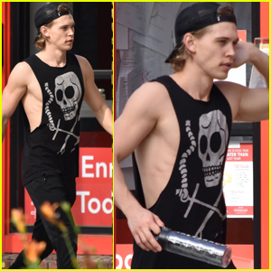 Austin Butler Flexes His Muscles Outside the Gym