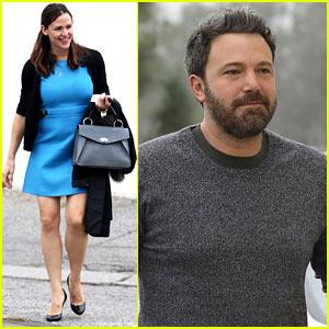 Ben Affleck & Jennifer Garner Arrive to Church Separately