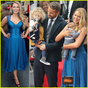 Blake Lively & Kids Support Ryan Reynolds at Walk of Fame Ceremony!