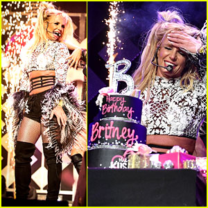 Britney Spears Celebrates 35th Birthday On Stage at Jingle Ball!