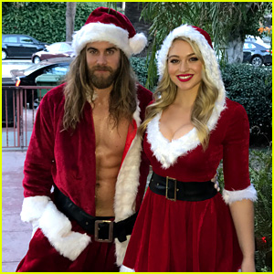 Brock O'Hurn Is One Hot Santa Alongside Iskra Lawrence!