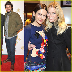 Camilla Belle & Jaime King Buddy Up For Brooks Brothers Holiday Event!