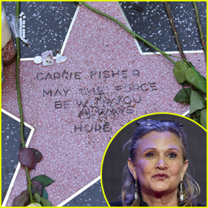 carrie-fishers-fans-give-her-star-on-wal