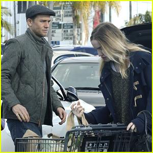 Charlie Hunnam Picks Up Last Minute Groceries on Christmas Eve