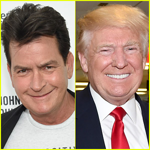 Charlie Sheen Asks God to Take Donald Trump Next