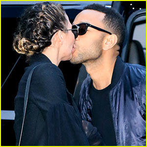 Chrissy Teigen & John Legend Share a Smooch Before John's New Album Release!