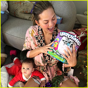 Chrissy Teigen's Daughter Luna Got a Hatchimal for Christmas, But Mom Is More Excited!