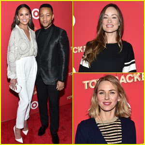 Chrissy Teigen & John Legend Wear Coordinating Outfits to Target Presents 'The Toycracker'