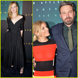 Elle Fanning, Sienna Miller, & Ben Affleck Attend 'Live By Night' Screening in NYC